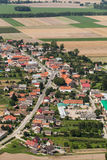 Aerial view of the Kalkow village near Nysa city Stock Photography