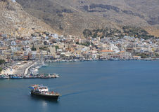 An Aerial view of the Kalymnos Port, Greece Stock Photos