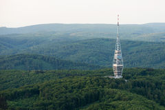 Aerial view of Kamzik TV transmission tower, Bratislava Royalty Free Stock Photo