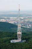 Aerial view of Kamzik TV transmission tower, Bratislava Stock Image