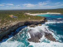 Aerial view of Kangaroo Island beautiful rugged coastline. Stock Photography