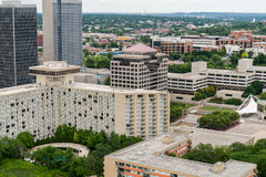 Aerial view of kansas city missouri. Downtown urban city buildings and modern architecture Royalty Free Stock Photos