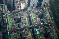 Aerial view of Kaohsiung City Royalty Free Stock Image