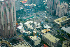 Aerial view of Kaohsiung City Royalty Free Stock Photography