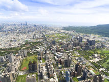Aerial view of kaohsiung city Royalty Free Stock Images