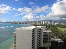 Aerial view of Kapiolani Park, Waikiki, Honolulu town area Royalty Free Stock Image