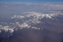 Aerial view of Karakoram mountains of Sinkiang, China Royalty Free Stock Photos