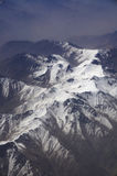 Aerial view of Karakoram mountains of Sinkiang, China Stock Photography