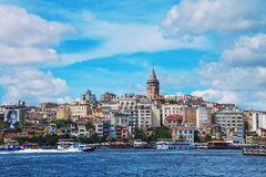 Aerial view of the Karakoy skyline, Istanbul Royalty Free Stock Image