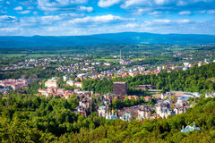 Aerial view of Karlovy Vary or Carlsbad. Czech Republic Stock Images