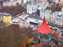 Aerial view of Karlovy Vary spa in Czech Republic Stock Photo