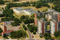 Aerial view of Karoliniskes, Vilnius, Lithuania Stock Photo