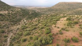 Aerial view of Karoo landscape - South Africa stock video