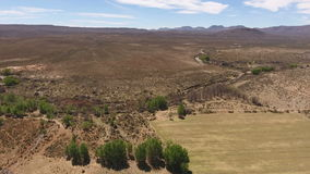 Aerial view of Karoo landscape - South Africa stock video footage