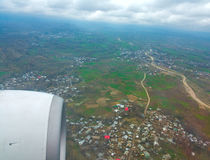 Aerial view of Kashmir valley, India Royalty Free Stock Image