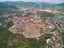 Aerial view on Kathu district in Phuket. stock images