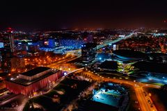 Aerial view of Katowice royalty free stock photography