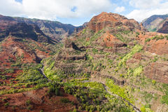Aerial view of kauai royalty free stock photo