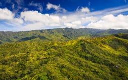 Aerial View of Kauai Ridgeline. Aerial View of Kauai overlooking a mountain landscape Stock Image