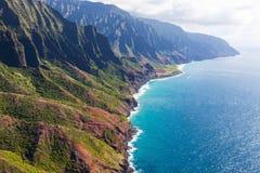 Aerial view of kauai stock photo