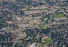 Kitchener Waterloo aerial. Aerial view of the Kaufmann Park area of Kitchener Ontario Canada Stock Images