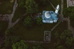Aerial view of Kaunas Mosque, Lithuania royalty free stock photography