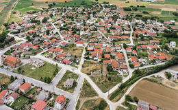 Aerial view of Kavallari village, Greece Royalty Free Stock Image