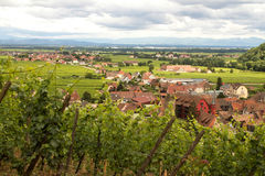 Aerial view of Kaysersberg, Alsace, France Stock Photography