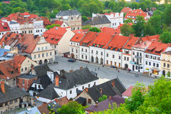 Aerial view, Kazimierz Dolny, Poland Royalty Free Stock Photos