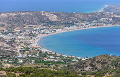 Aerial view of Kefalos village Stock Photography