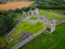 Aerial view. Kells Priory. county Kilkenny. Ireland stock photography
