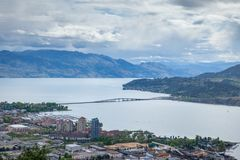 Aerial view of Kelowna from Knox Mountain Park, British Columbia. Canada Royalty Free Stock Photography