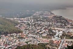 Aerial view of Kemer city, Antalya province, Turkey Stock Photography