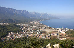 Aerial view of Kemer city, Turkey Royalty Free Stock Images
