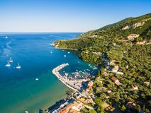 Aerial  view of Keri city in  Zante zakynthos island, in Greec Stock Images
