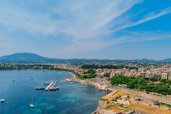 Aerial view of Kerkyra town, Corfu Stock Image