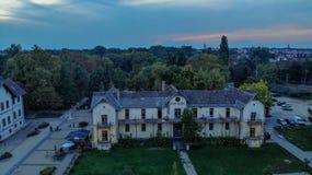 Aerial view of Keszthely Town on the lake Balaton royalty free stock photo