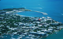 Aerial View - Key West Florida. Aerial view of Key West Florida - Island - harbor and boat slips Royalty Free Stock Image