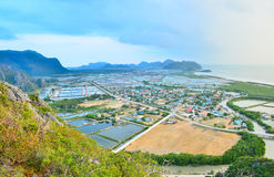 Aerial view from Khao Dang Stock Images