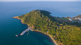 Aerial view of khao larm ya and samed island national park rayon Stock Images