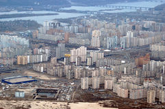 aerial view of kiev the central part city ukraine Stock Photos