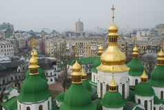 aerial view of kiev the central part city ukraine Stock Photo