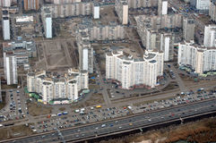aerial view of kiev the central part city ukraine Royalty Free Stock Images