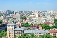 Aerial view of Kiev city, 06/23/2018 royalty free stock photo
