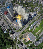 aerial view of Kiev city Royalty Free Stock Images