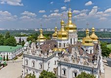Aerial view of the Kiev-Pechersk Lavra. Kiev, Ukraine royalty free stock photography