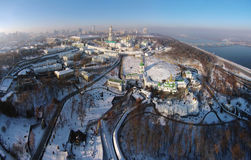 Aerial view of Kiev-Pechersk Lavra Royalty Free Stock Photography