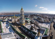 Aerial view of Kiev-Pechersk Lavra at winter Stock Photos