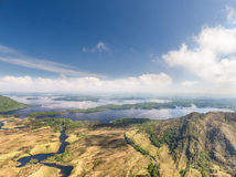Aerial view Killarney National Park on the Ring of Kerry, Ireland. Royalty Free Stock Photo