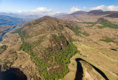 Aerial view Killarney National Park on the Ring of Kerry, Ireland. Stock Photo